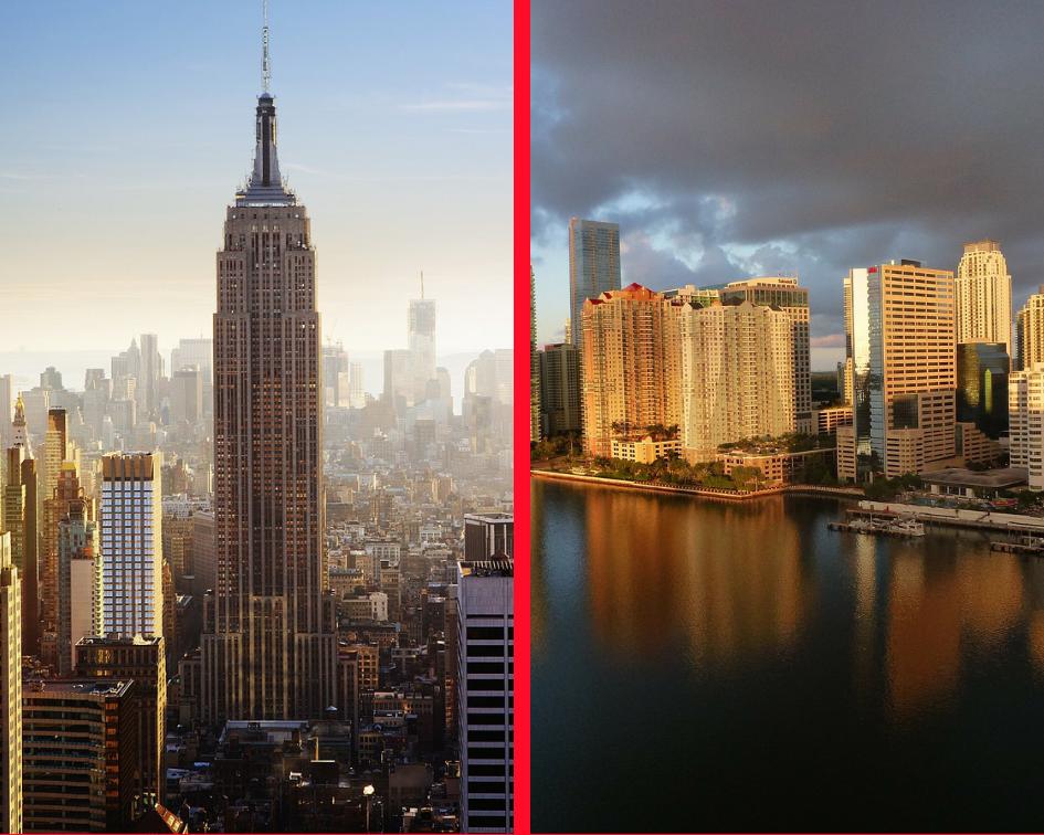 NYC vs Miami