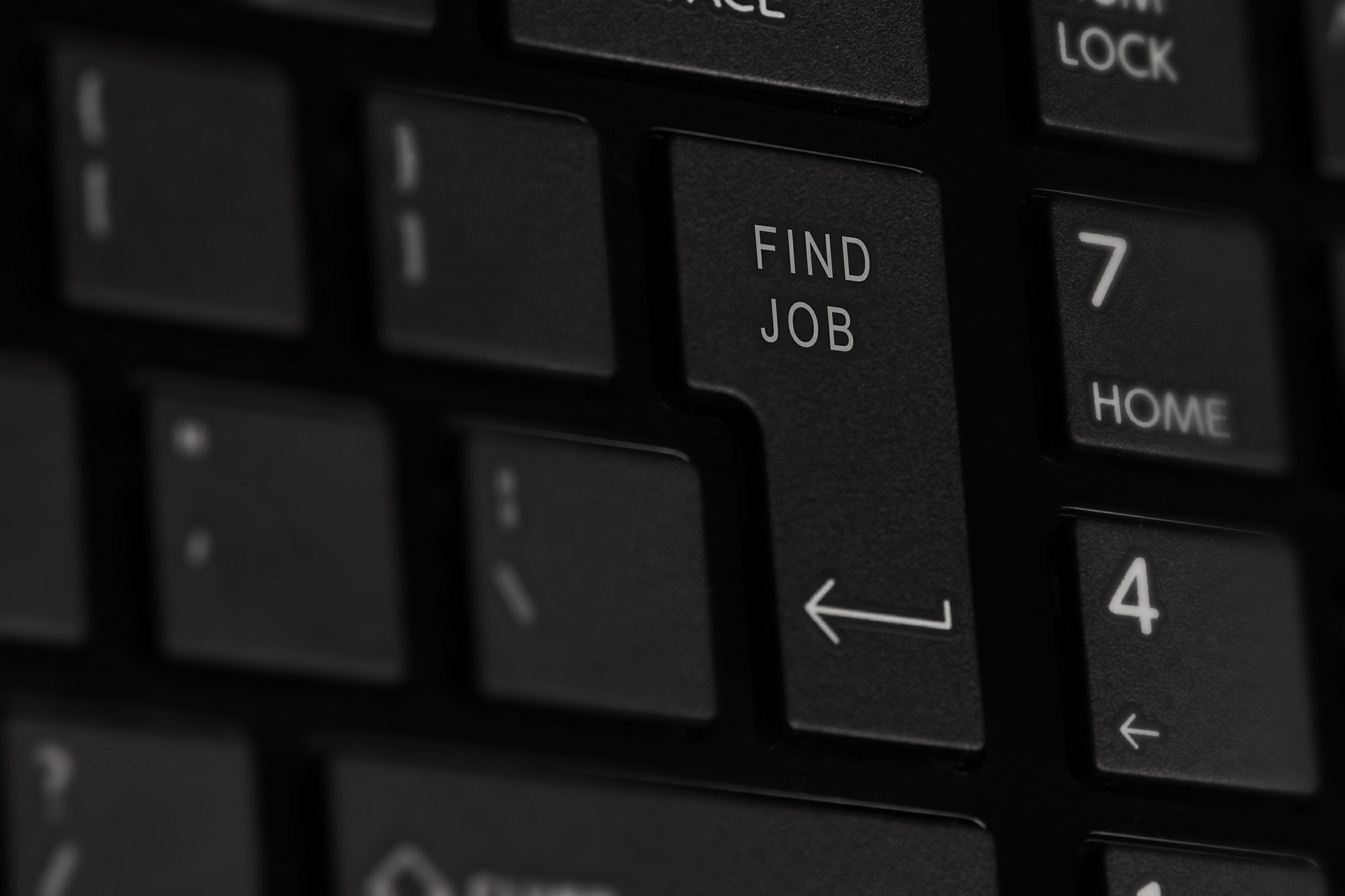 find a job button on keyboard