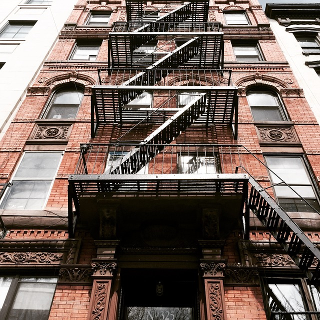 An apartment building where you can find your first apartment in NYC.