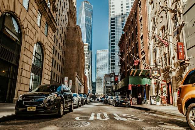 A street in New York.