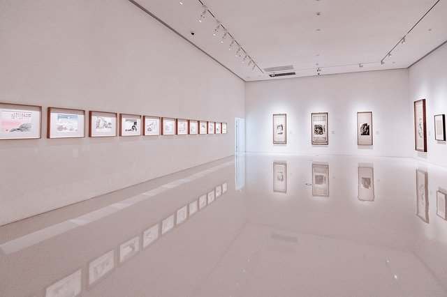A gallery is the potential location to choose when setting up your first exhibition.