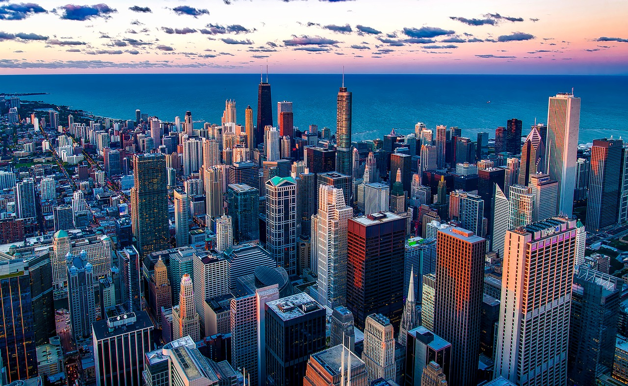 Chicago city view.