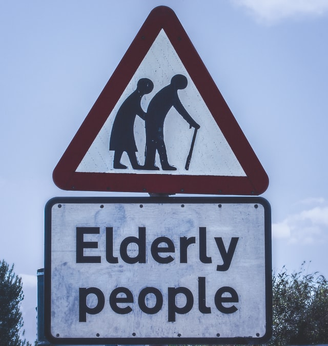 A road sign ''elderly people''